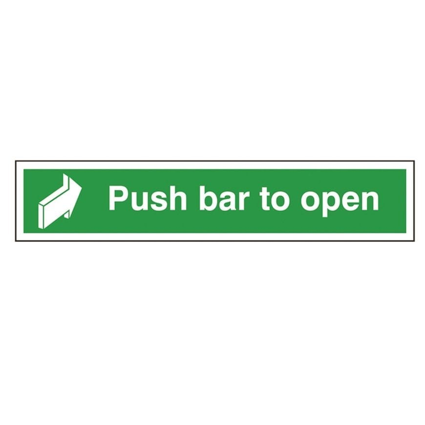 push bar to open sign storage systems and equipment. Black Bedroom Furniture Sets. Home Design Ideas