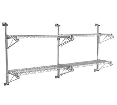 Wall Mounted Chrome Wire Shelving - Storage Systems and Equipment