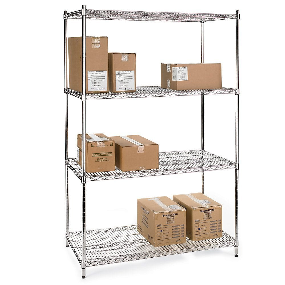 Chrome Wire Shelving (305mm deep) - Storage Systems and Equipment