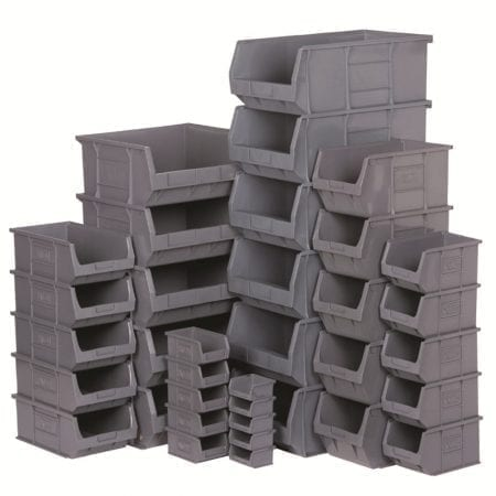 Grey Storage Bins